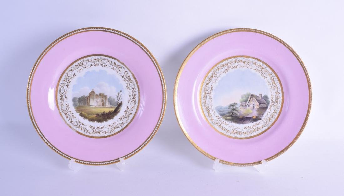 Early 19th c. Flight Barr and Barr plate, one painted