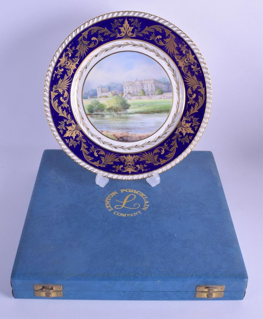 Lynton porcelain limited edition plate painted with