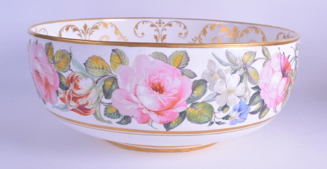 Derby King Street factory punch bowl painted with large