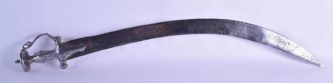 A 19TH CENTURY MUGHAL STEEL TALWAR SWORD with crucifix