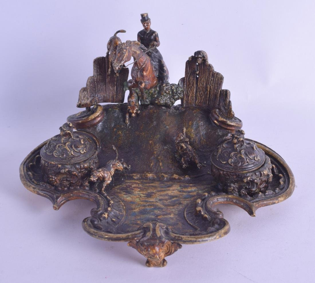 A RARE 19TH CENTURY AUSTRIAN COLD PAINTED BRONZE