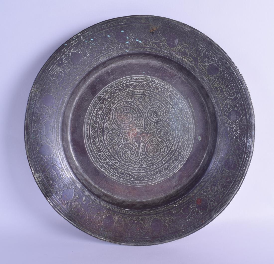 A 17TH/18TH CENTURY MIDDLE EASTERN TINNED COPPER BSIN