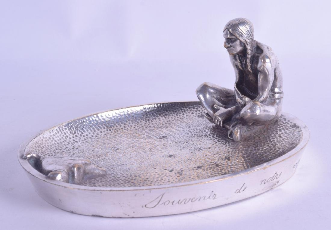 A LOVELY EARLY 20TH CENTURY FRENCH SILVERED BRONZE