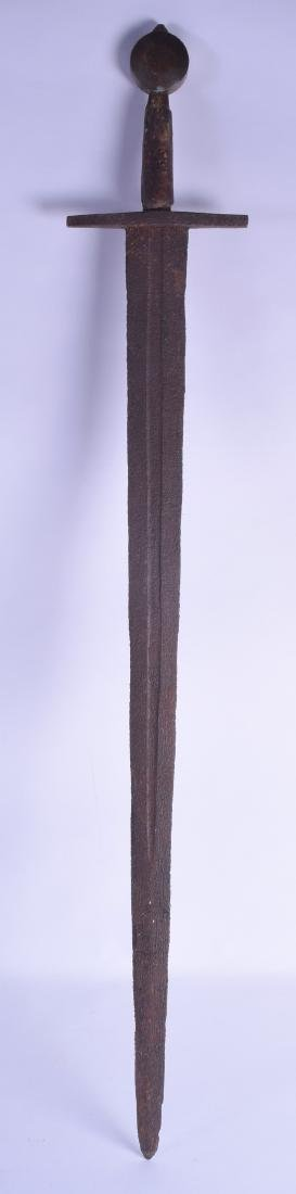 AN EARLY FRENCH SWORD probably 14th/15th Century, with