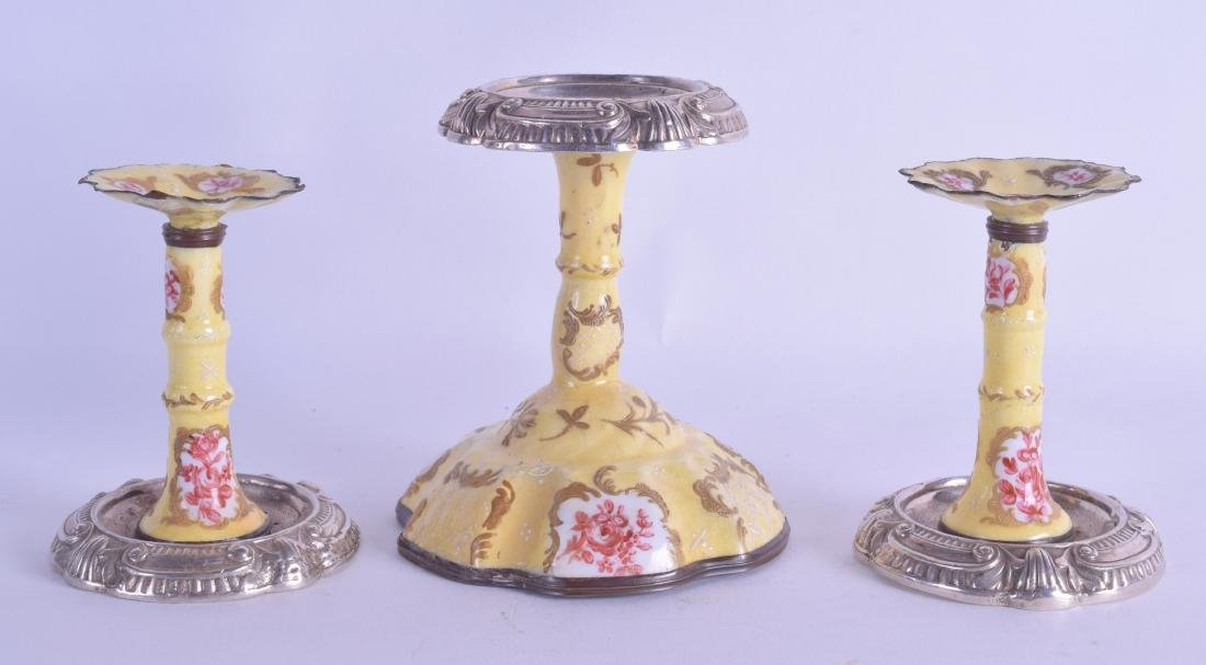 A 19TH CENTURY CONTINENTAL SILVER PLATE AND ENAMEL
