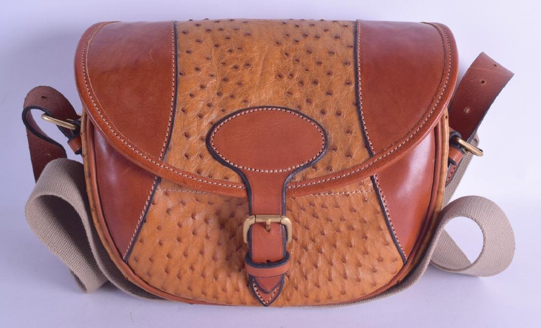 A LOVELY JAMES PURDEY OSTRICH SKIN GUN CARTIDGE BAG. 30