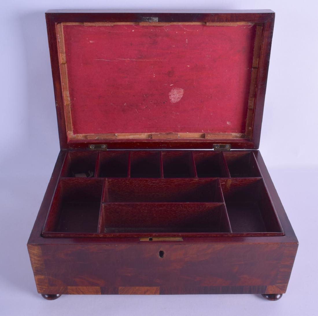 A MID VICTORIAN ROSEWOOD STATIONARY CASKET of - 2