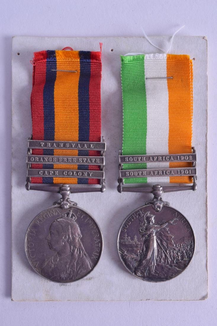 A PAIR OF SOUTH AFRICAN BOER WAR MEDALS presented to