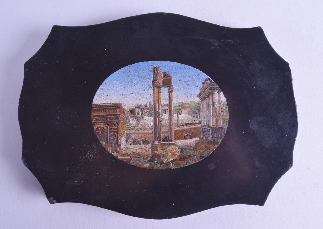 A MID 19TH CENTURY ITALIAN MICRO MOSAIC PAPER WEIGHT
