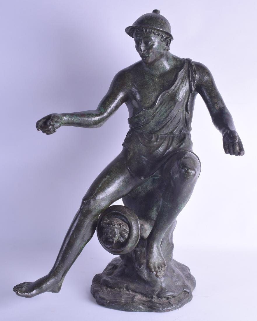 A LARGE 19TH CENTURY ITALIAN GRAND TOUR BRONZE FIGURE