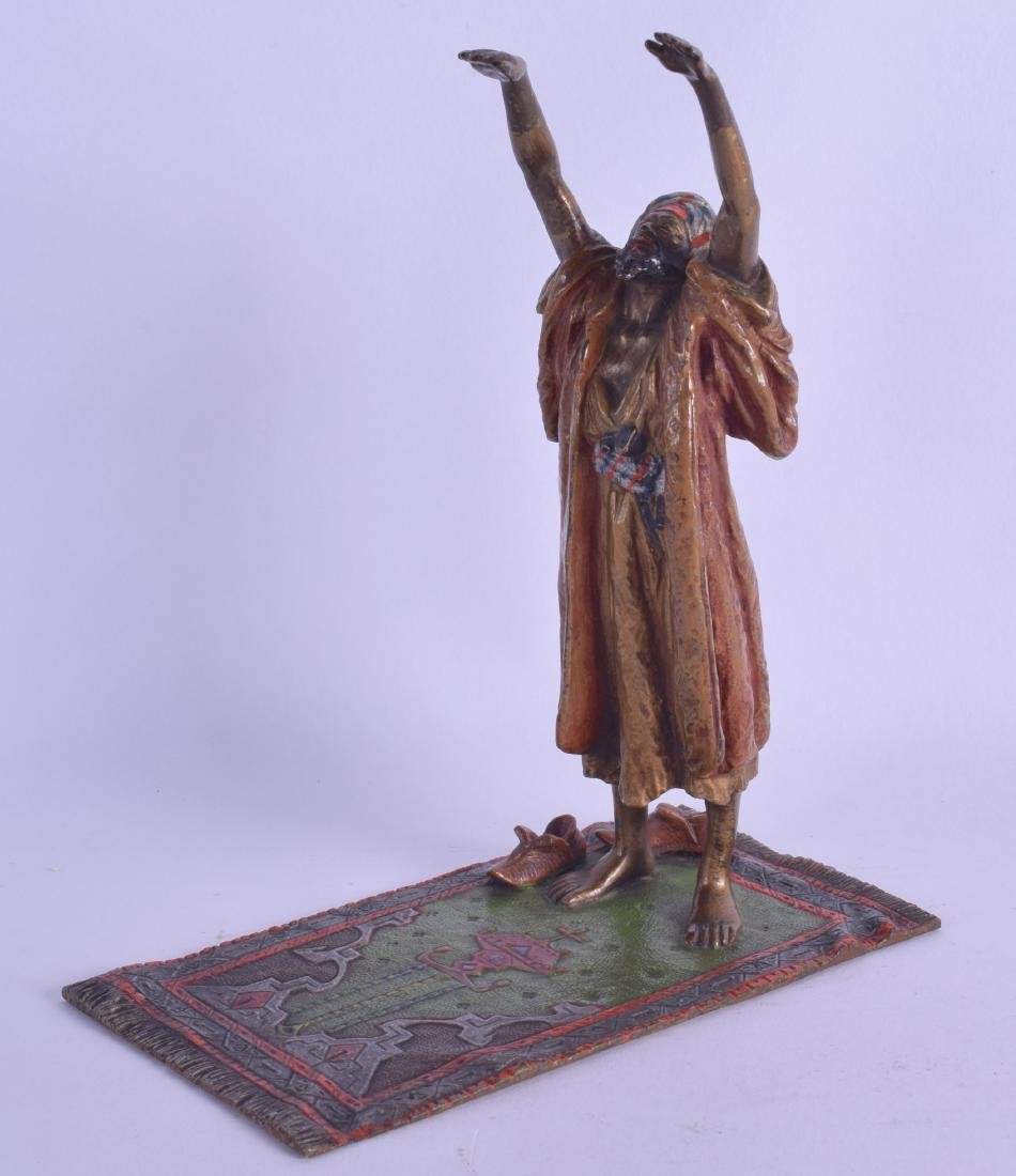 A LATE 19TH CENTURY AUSTRIAN COLD PAINTED BRONZE FIGURE