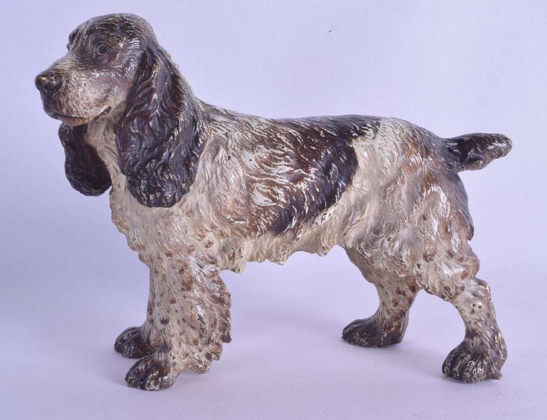 A LARGE LATE 19TH CENTURY AUSTRIAN COLD PAINTED BRONZE