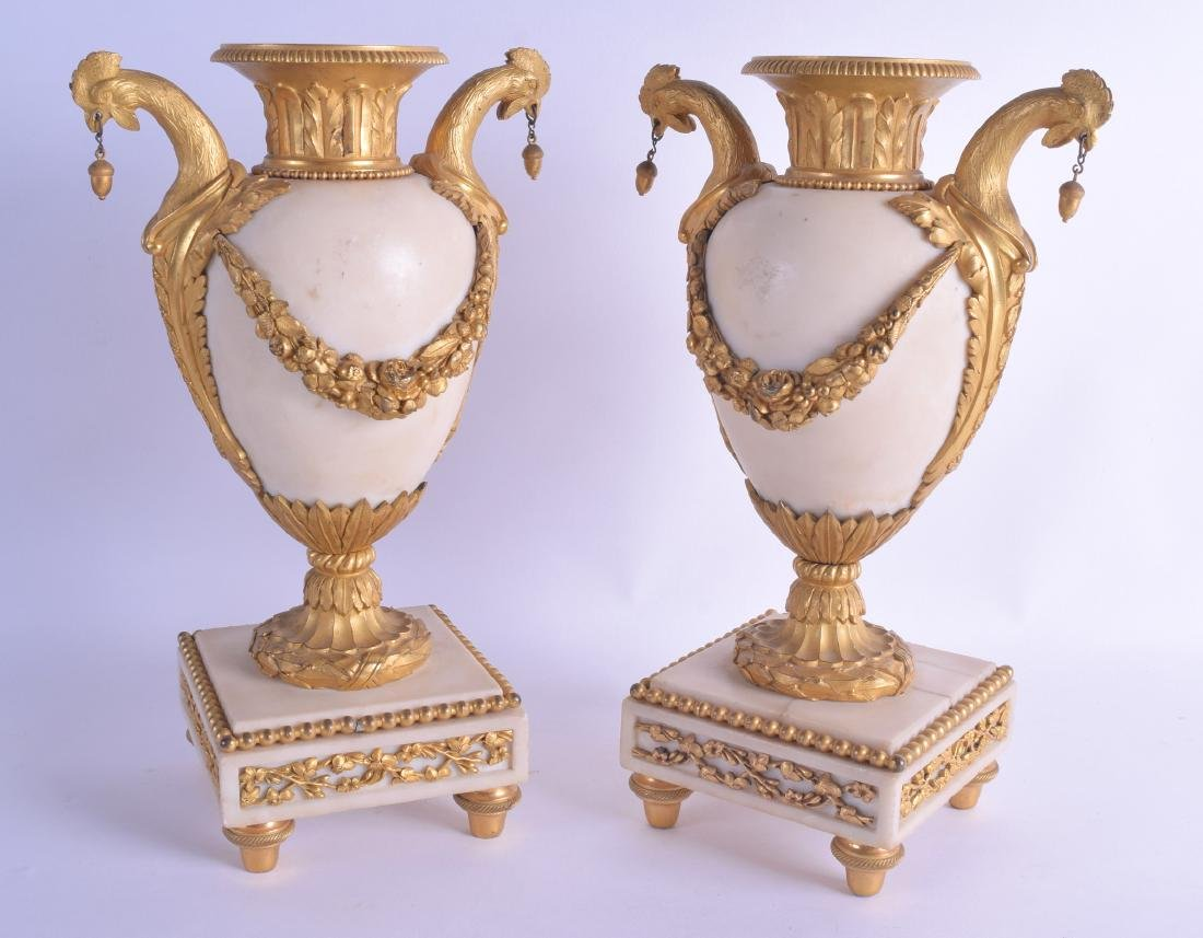 A FINE PAIR OF LATE 18TH CENTURY FRENCH ORMOLU AND