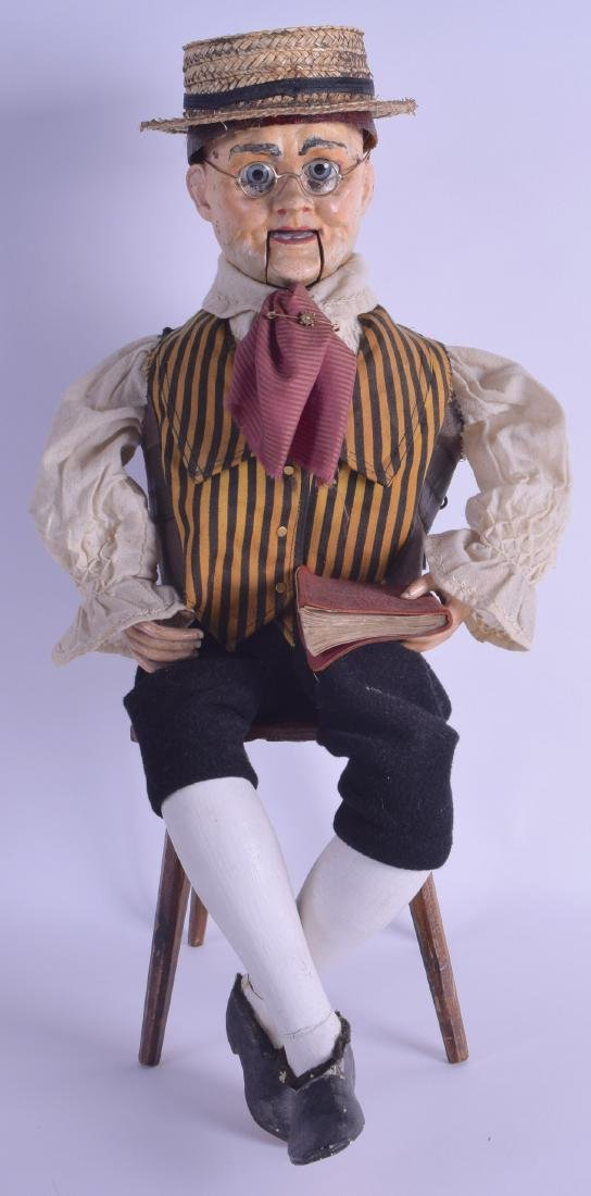 A GOOD RARE VICTORIAN AUTOMATON FIGURE OF A MALE