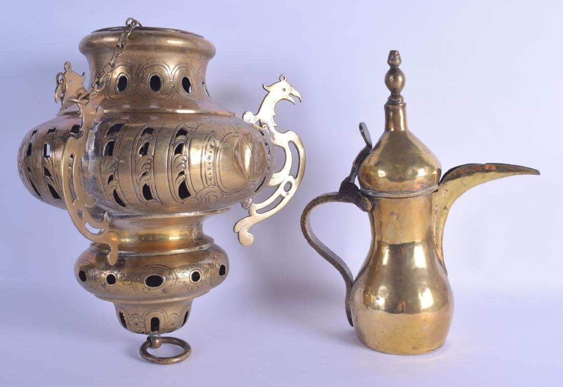 AN 18TH/19TH CENTURY OTTOMAN MIDDLE EASTERN BRASS