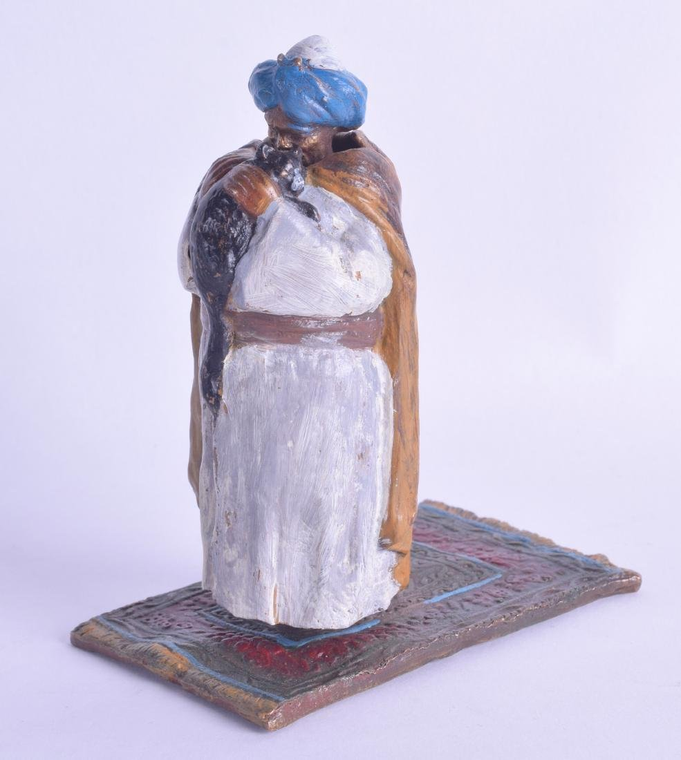 A CONTEMPORARY COLD PAINTED BRONZE FIGURE OF A MALE
