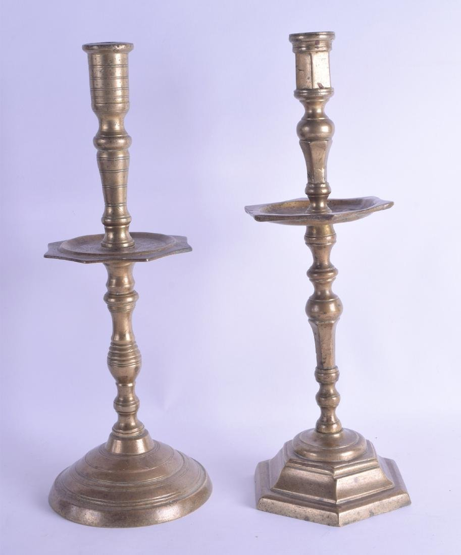 TWO EARLY 18TH CENTURY MIDDLE EASTERN BRONZE