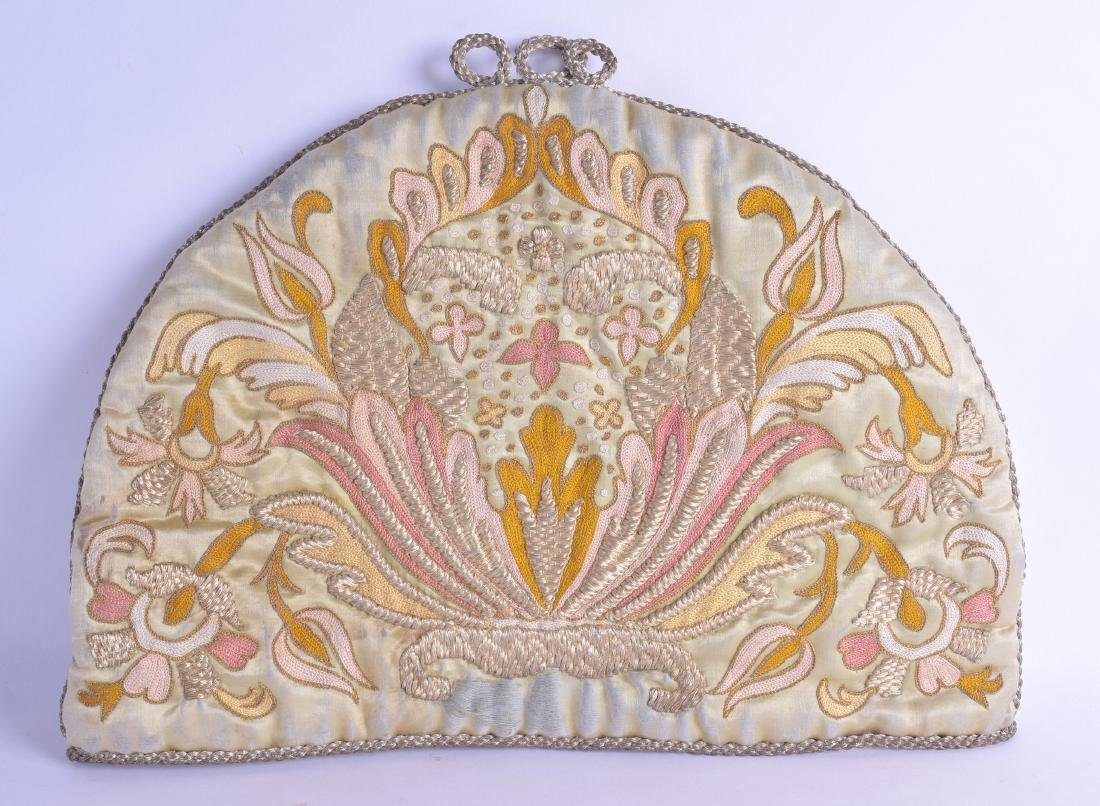 A 19TH CENTURY MIDDLE EASTERN OTTOMAN STYLE EMBROIDERED