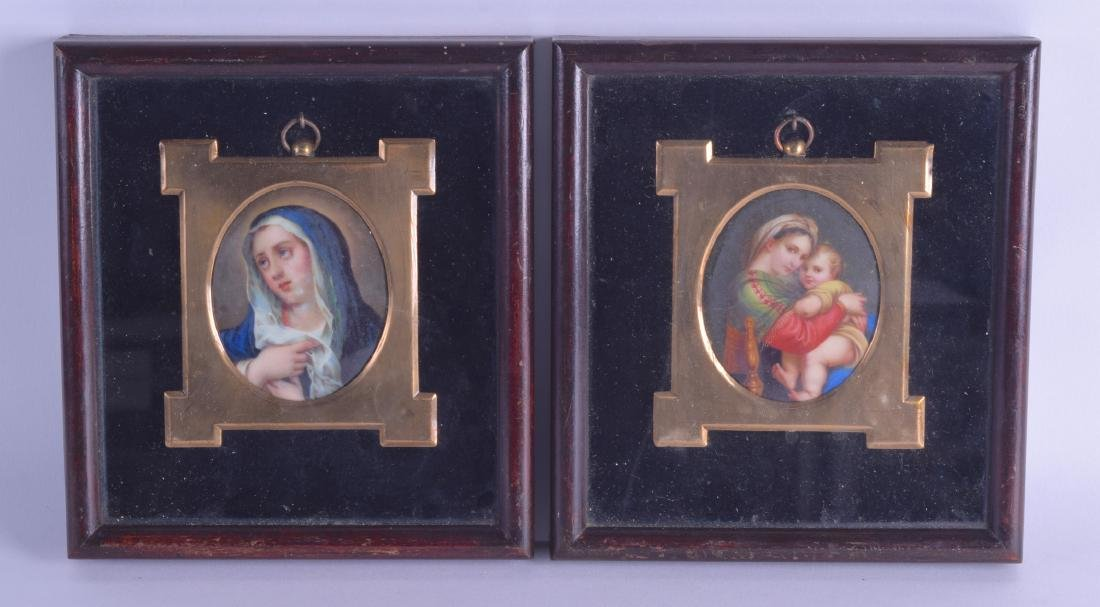 A FRAMED PAIR OF LATE 19TH CENTURY EUROPEAN PAINTED