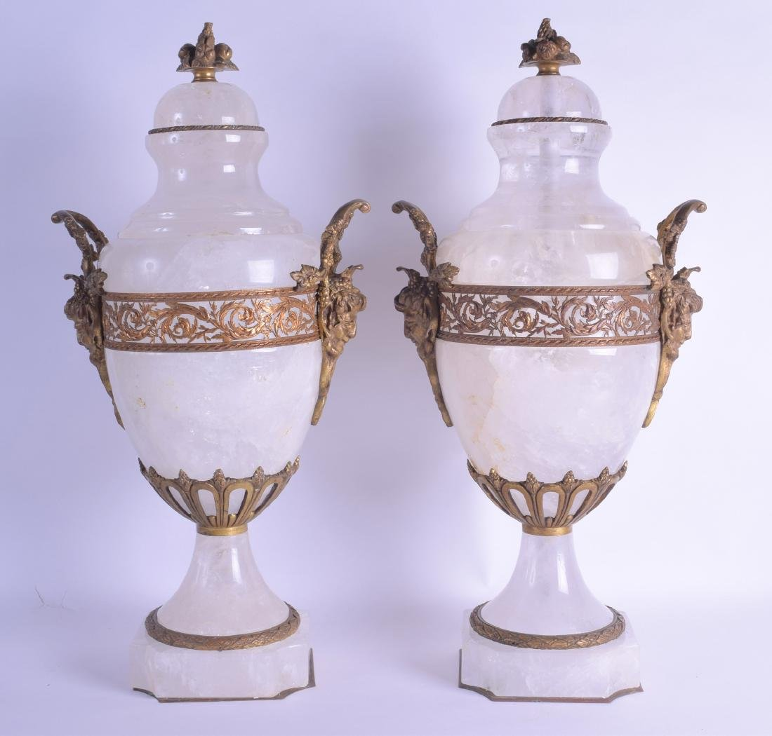 A GOOD LARGE PAIR OF LATE 19TH CENTURY FRENCH ROCK