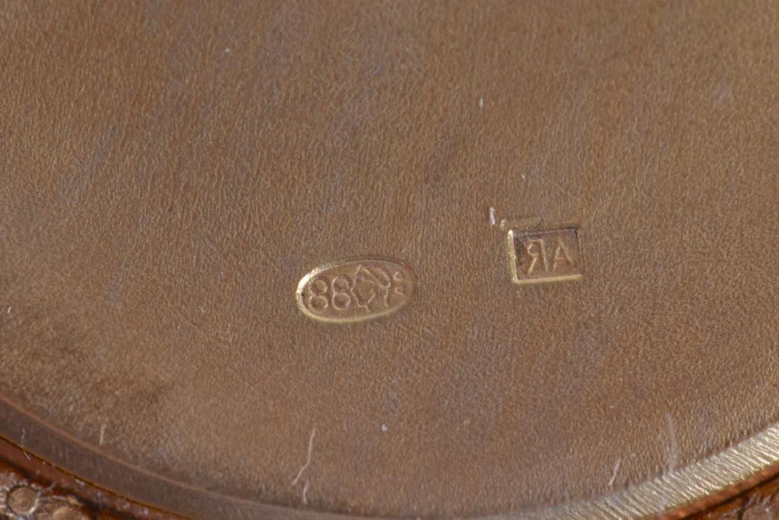 A CONTEMPORARY RUSSIAN SILVER GILT DIAMOND AND NEPHRITE - 2