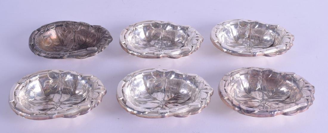 A SET OF SIX REED & BARTON SILVER DISHES of
