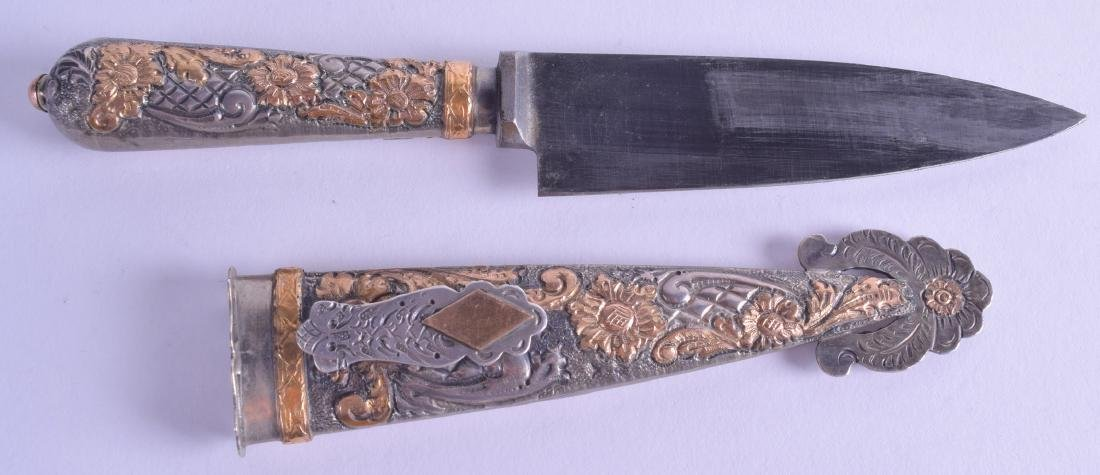 AN EARLY 20TH CENTURY SILVER AND GILT HEINR BOKER & CO