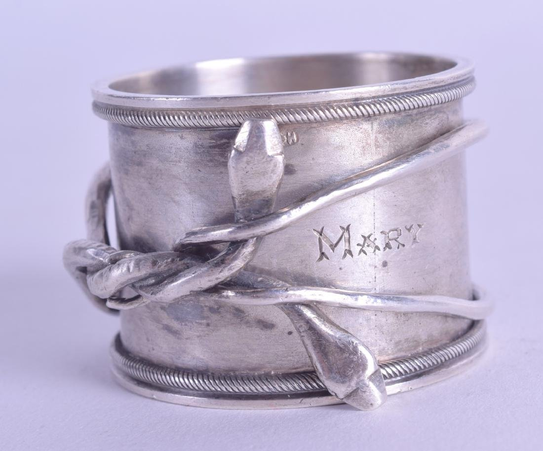 A RARE LATE 19TH CENTURY RUSSIAN SILVER NAPKIN RING