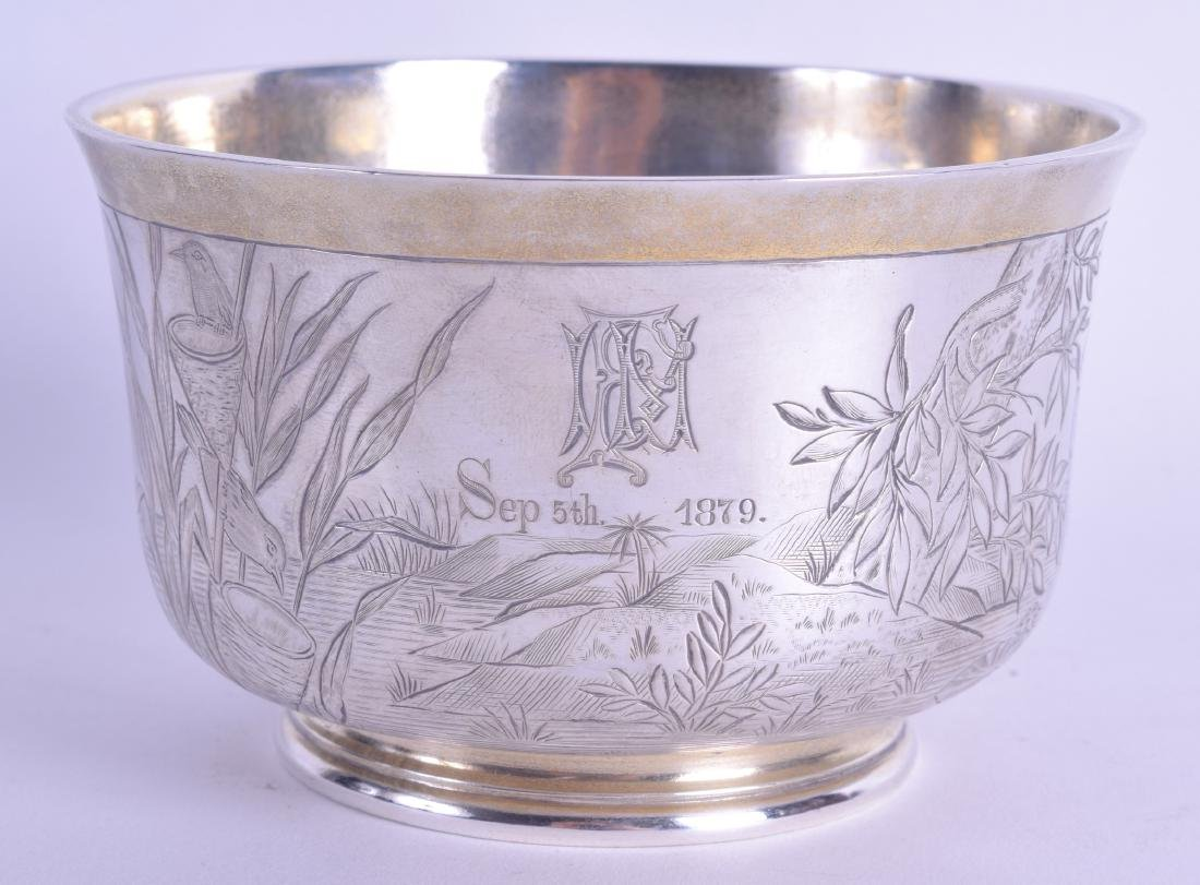 AN AESTHETIC MOVEMENT SILVER BOWL by Richard Martin &