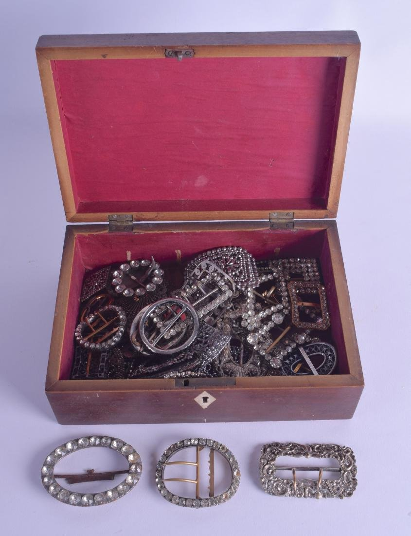 A COLLECTION OF GEORGE III AND LATER RHINESTONE AND GEM