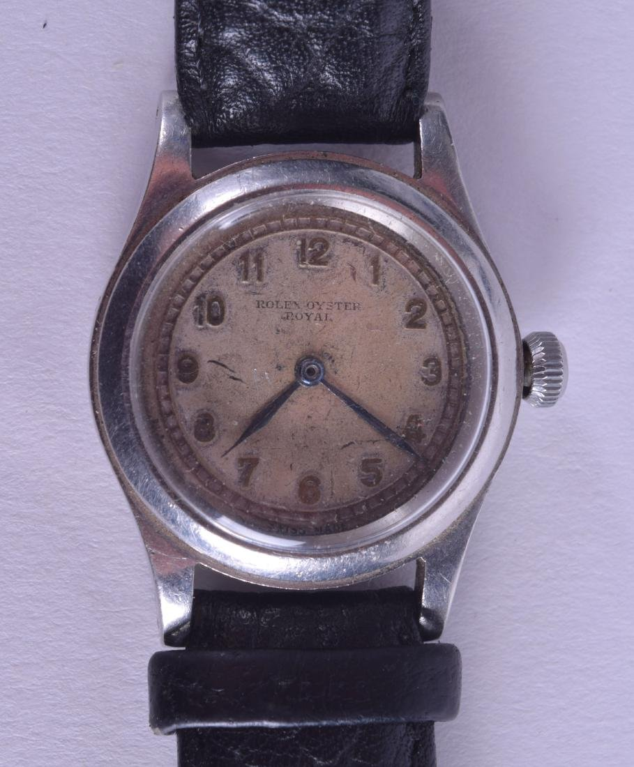 A VINTAGE ROLEX OYSTER ROYAL STAINLESS STEEL WRISTWATCH