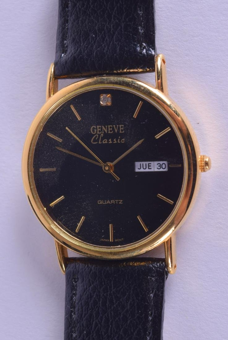 A BOXED LADIES GENEVE CLASSIC WRISTWATCH. Dial 3 cm