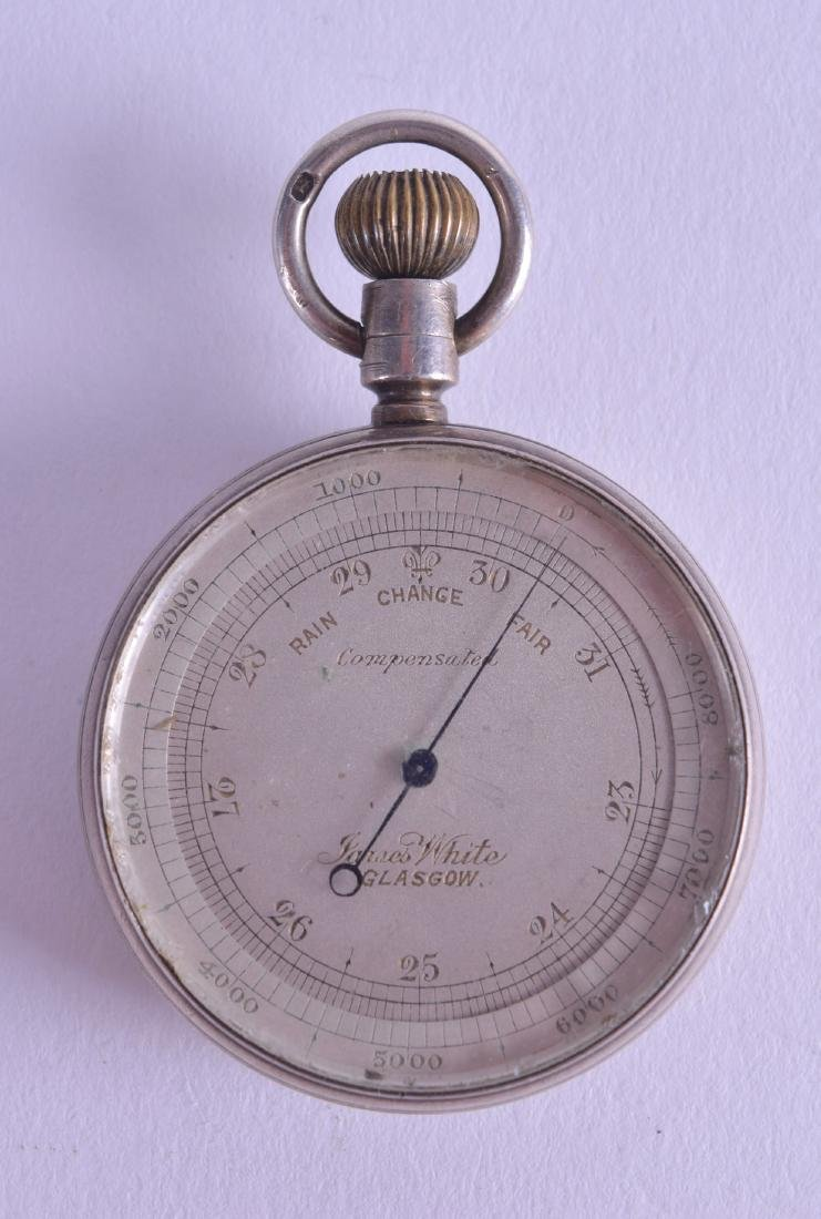 A SMALL ANTIQUE POCKET BAROMETER by James White of