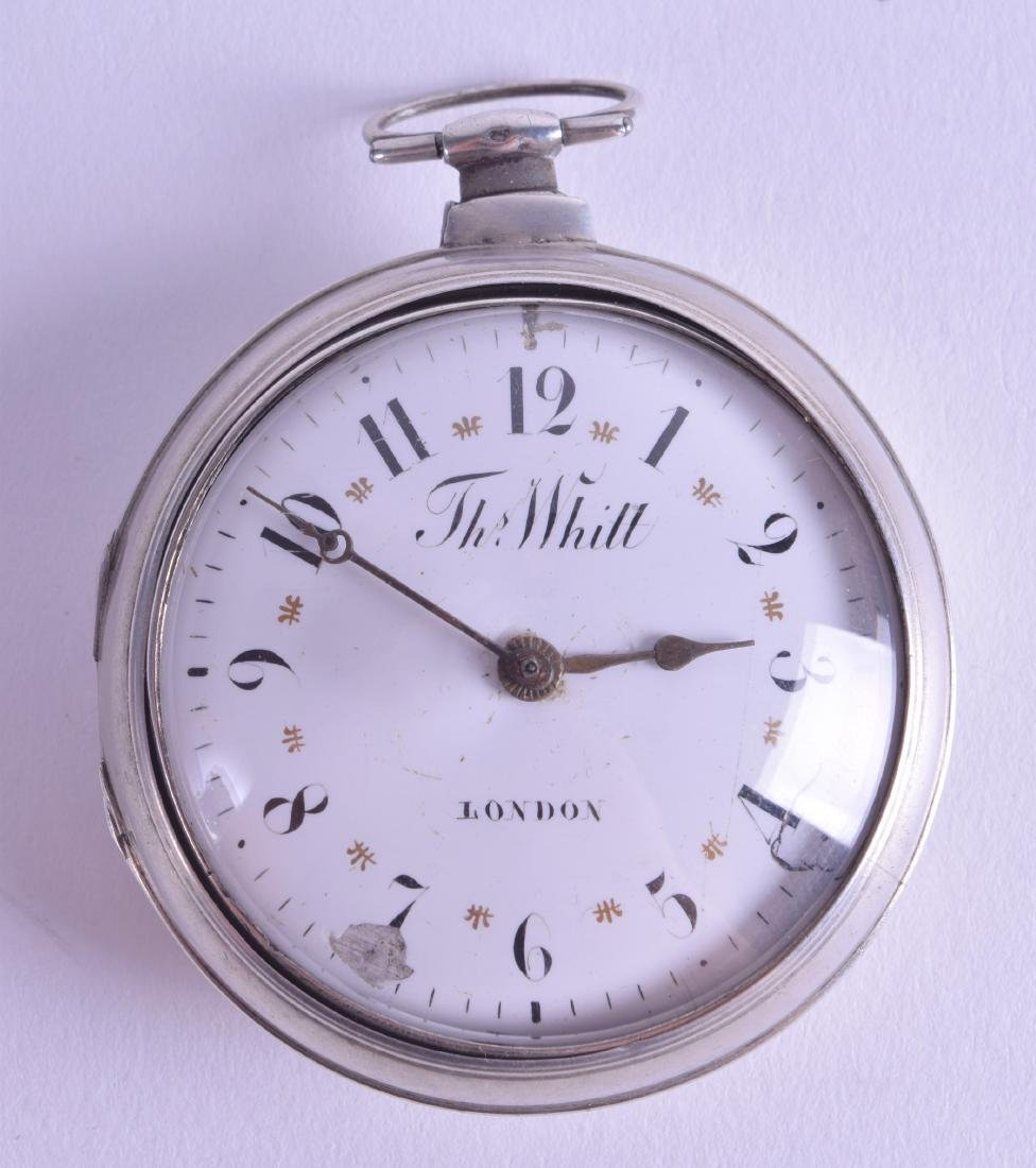 AN EARLY 19TH CENTURY PEAR CASED SILVER POCKET WATCH by