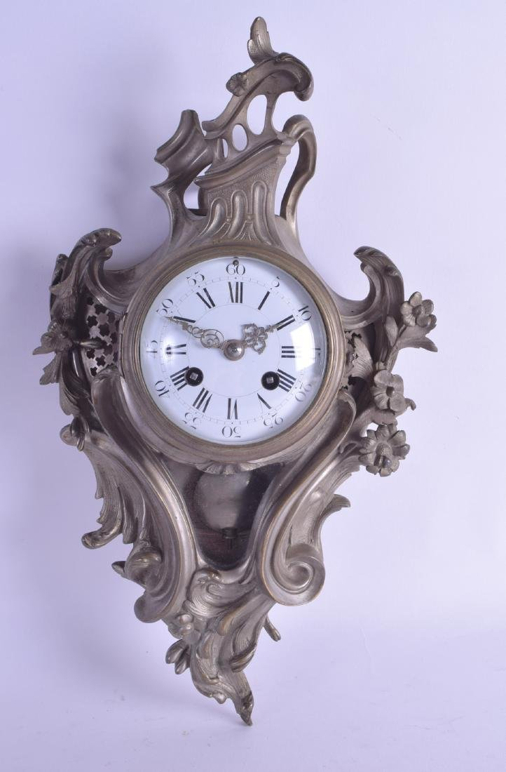 A LATE 19TH CENTURY FRENCH BRASS SILVERED BRASS ROCOCO