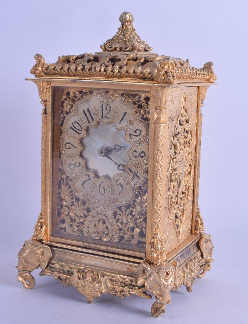 A CONTEMPORARY FRENCH BRASS CARRIAGE CLOCK with
