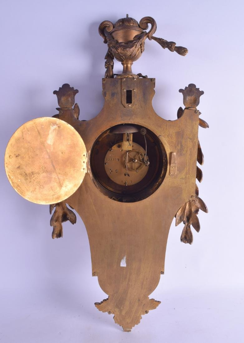 A 19TH CENTURY FRENCH BRONZE CARTEL CLOCK with large - 2