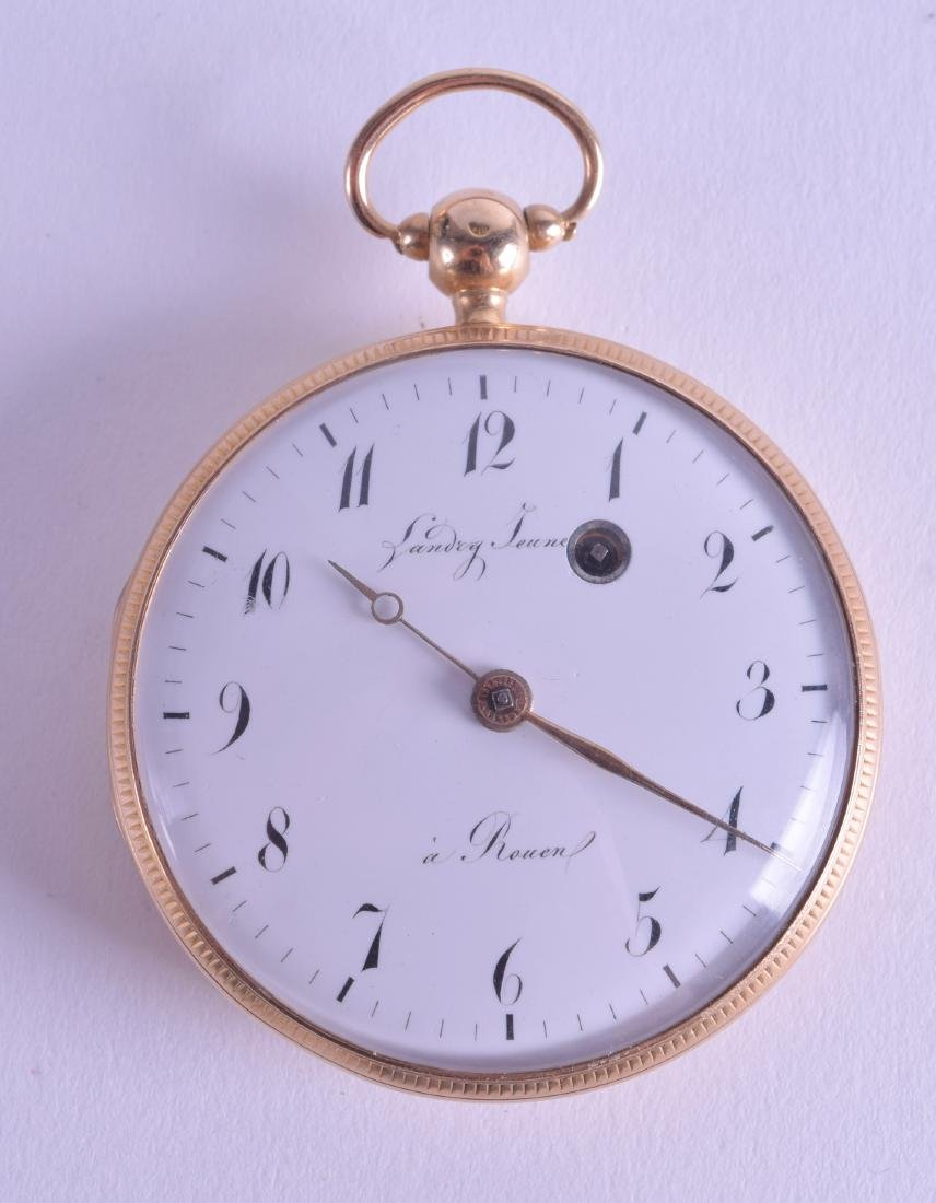 A MID 19TH CENTURY FRENCH 18CT GOLD POCKET WATCH with