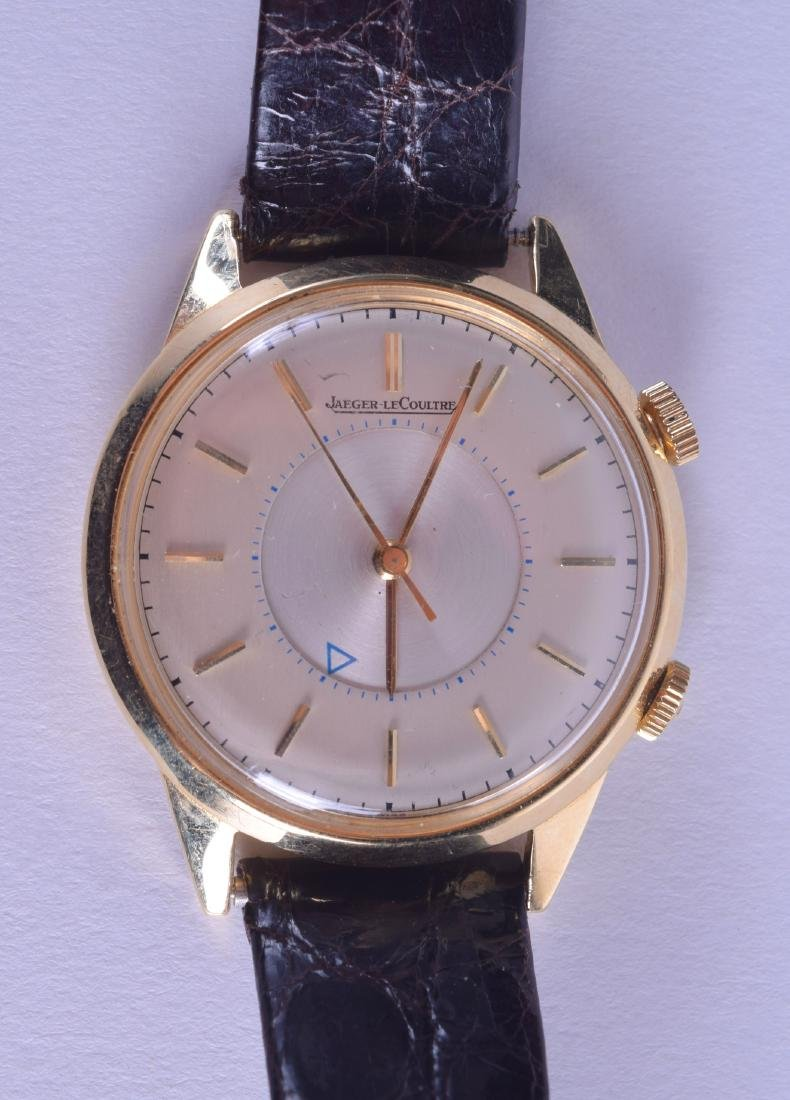 A GOOD 18CT GOLD GENTLEMANS JAEGER LECOULTRE WRISTWATCH