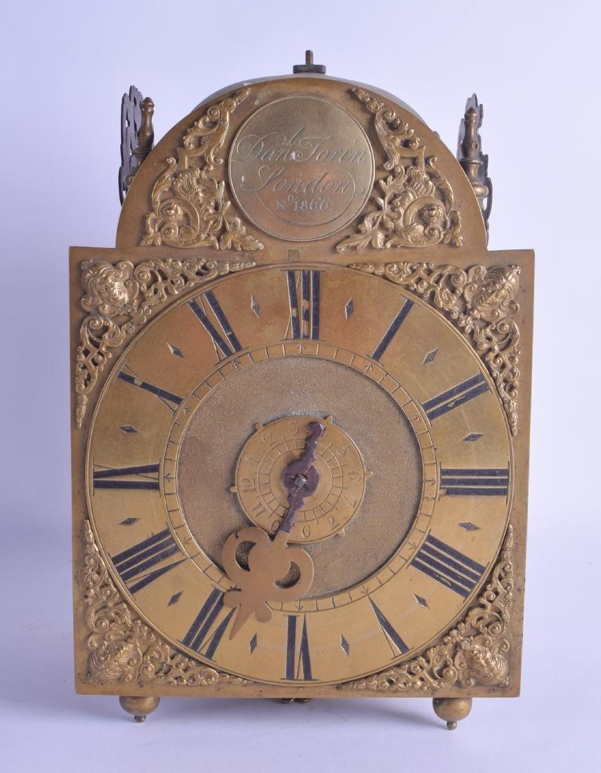 A GOOD 17TH CENTURY BRASS LANTERN CLOCK by Daniel Forin