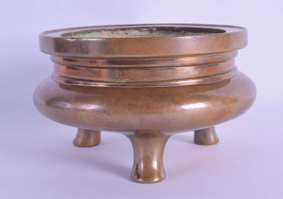 AN 18TH/19TH CENTURY CHINESE BRONZE CENSER bearing