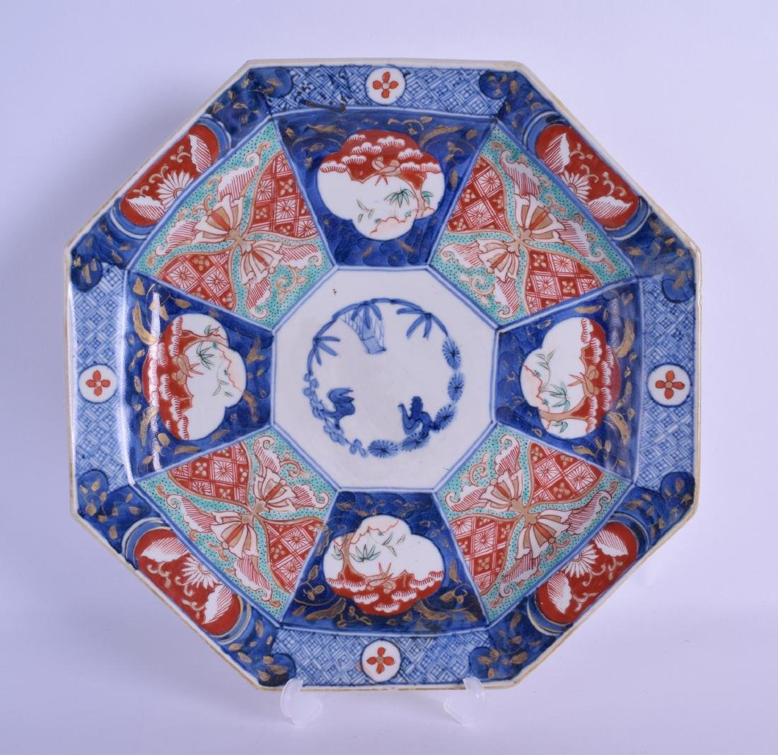 AN EARLY 19TH CENTURY JAPANESE EDO PERIOD OCTAGONAL