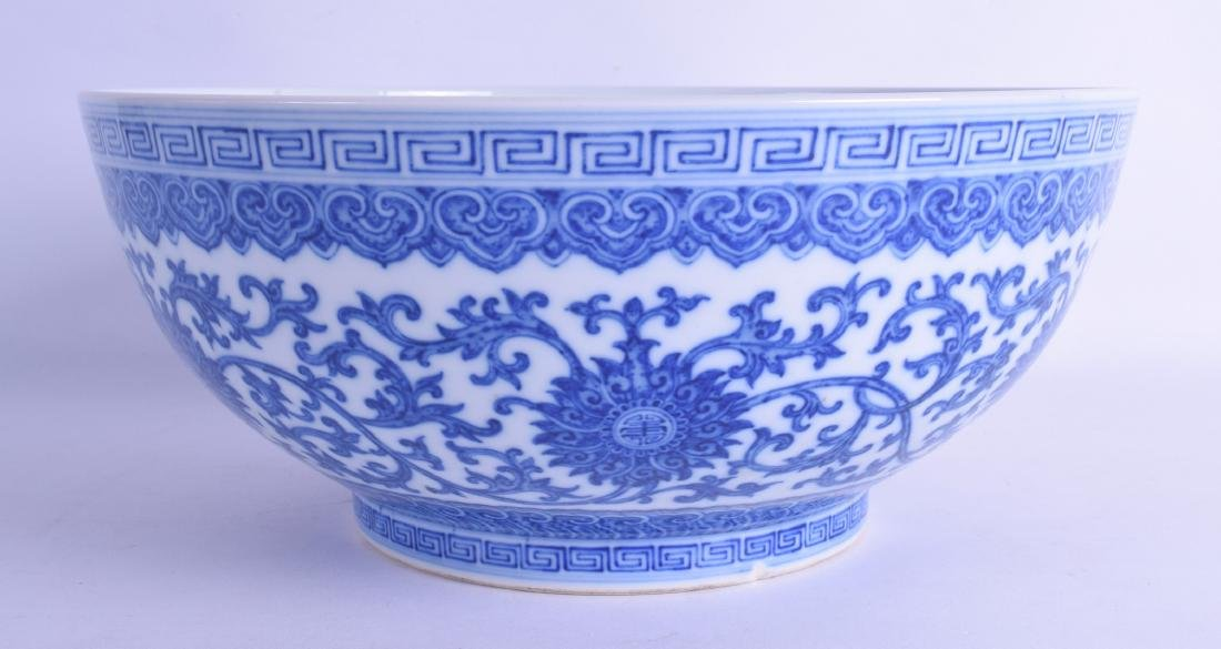 A LARGE CHINESE BLUE AND WHITE PORCELAIN BOWL Probably