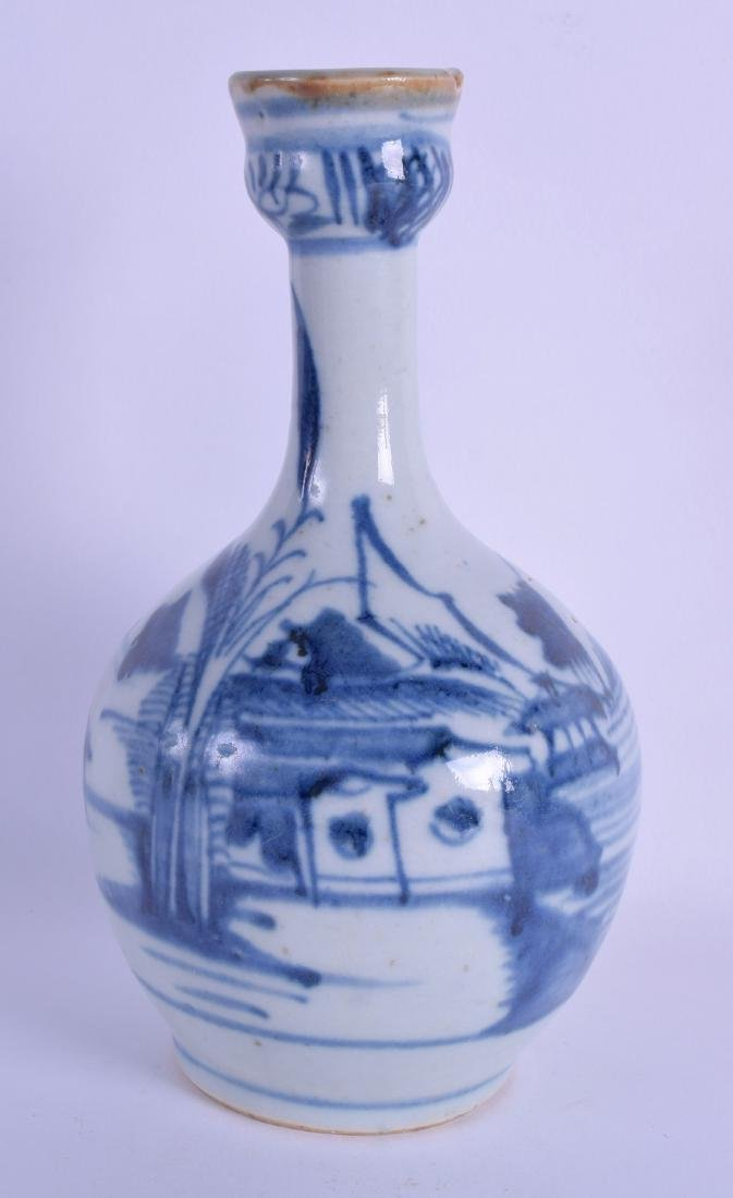 AN 18TH CENTURY CHINESE BLUE AND WHITE WATER GUGLET