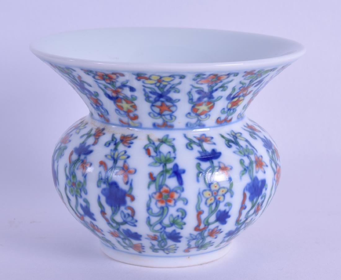 A SMALL CHINESE DOUCAI PORCELAIN VASE bearing Guangxu
