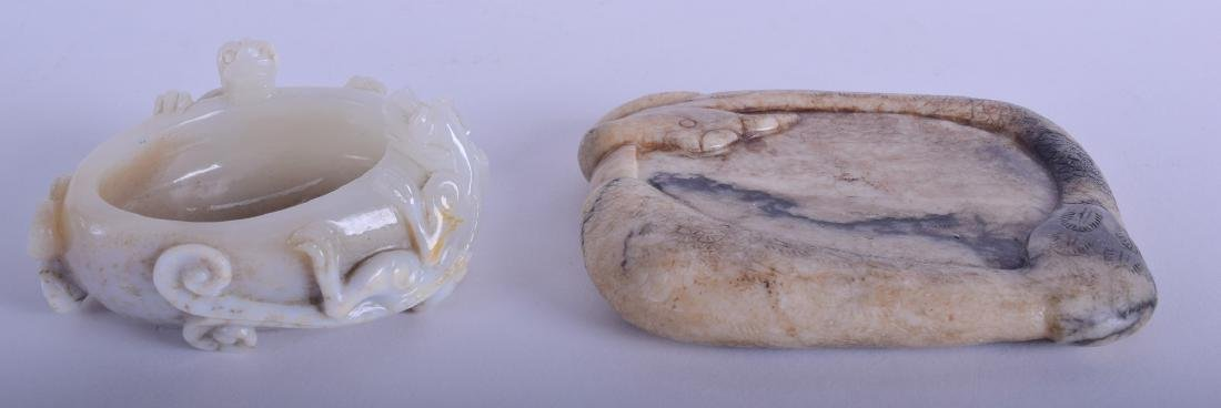 AN UNUSUAL CHINESE QING DYNASTY CARVED MUTTON JADE