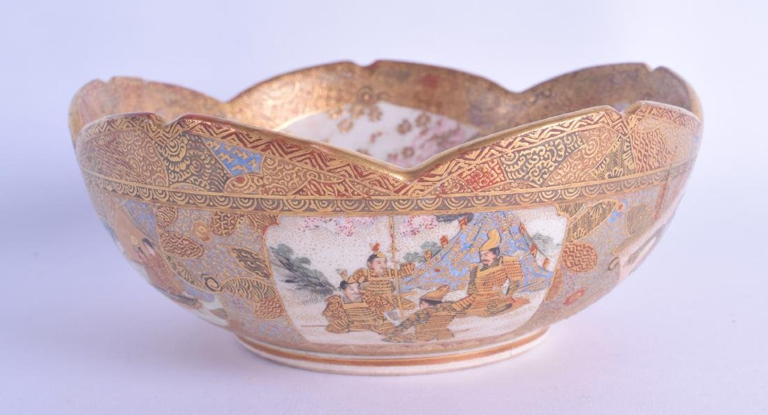 A LATE 19TH CENTURY JAPANESE MEIJI PERIOD SATSUMA BOWL