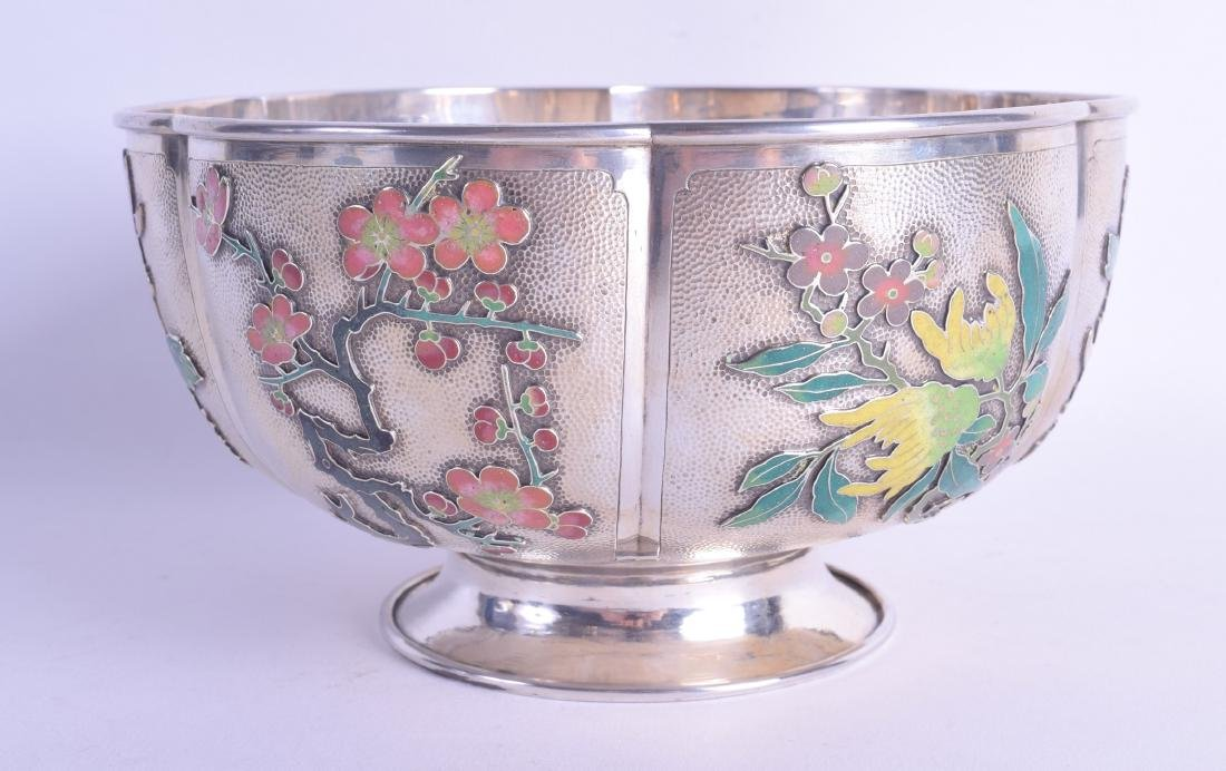 A FINE RARE LATE 19TH CENTURY CHINESE SILVER AND ENAMEL