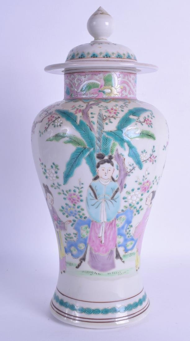 A 19TH CENTURY JAPANESE MEIJI PERIOD FAMILLE ROSE VASE