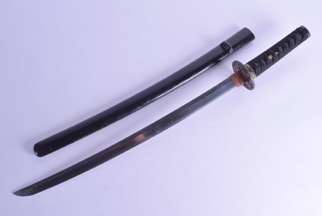AN 18TH CENTURY JAPANESE EDO PERIOD SAMURAI SHORT SWORD